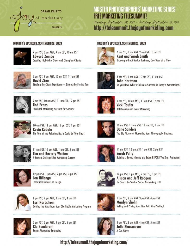 Speakers Schedule